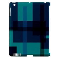 Boxes Abstractly Apple Ipad 3/4 Hardshell Case (compatible With Smart Cover)