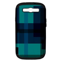 Boxes Abstractly Samsung Galaxy S Iii Hardshell Case (pc+silicone)