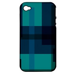 Boxes Abstractly Apple Iphone 4/4s Hardshell Case (pc+silicone)