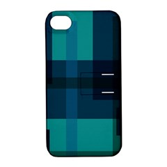 Boxes Abstractly Apple Iphone 4/4s Hardshell Case With Stand