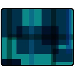 Boxes Abstractly Double Sided Fleece Blanket (medium)