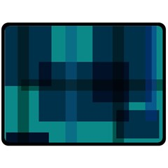 Boxes Abstractly Double Sided Fleece Blanket (large)