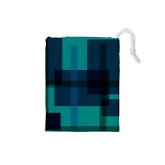 Boxes Abstractly Drawstring Pouches (small)