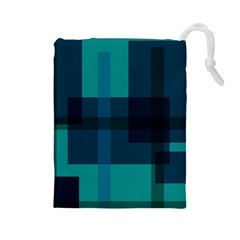 Boxes Abstractly Drawstring Pouches (large)