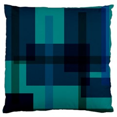Boxes Abstractly Large Flano Cushion Case (one Side)