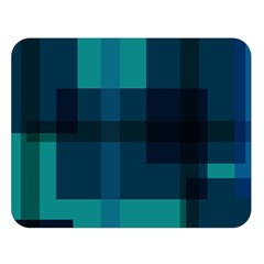 Boxes Abstractly Double Sided Flano Blanket (Large)