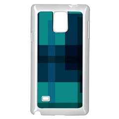 Boxes Abstractly Samsung Galaxy Note 4 Case (White)