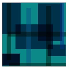 Boxes Abstractly Large Satin Scarf (square)