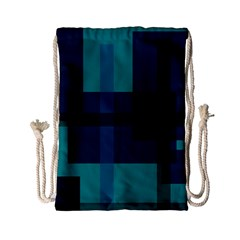Boxes Abstractly Drawstring Bag (small)