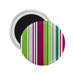 Beautiful Multi Colored Bright Stripes Pattern Wallpaper Background 2.25  Magnets