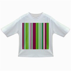 Beautiful Multi Colored Bright Stripes Pattern Wallpaper Background Infant/toddler T Shirts
