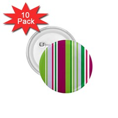 Beautiful Multi Colored Bright Stripes Pattern Wallpaper Background 1 75  Buttons (10 Pack)
