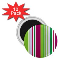 Beautiful Multi Colored Bright Stripes Pattern Wallpaper Background 1 75  Magnets (10 Pack)