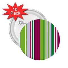 Beautiful Multi Colored Bright Stripes Pattern Wallpaper Background 2 25  Buttons (10 Pack)