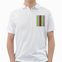 Beautiful Multi Colored Bright Stripes Pattern Wallpaper Background Golf Shirts