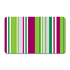 Beautiful Multi Colored Bright Stripes Pattern Wallpaper Background Magnet (rectangular)