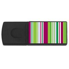 Beautiful Multi Colored Bright Stripes Pattern Wallpaper Background USB Flash Drive Rectangular (2 GB)