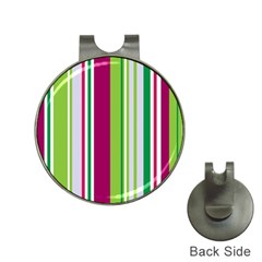 Beautiful Multi Colored Bright Stripes Pattern Wallpaper Background Hat Clips With Golf Markers