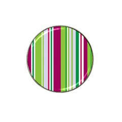 Beautiful Multi Colored Bright Stripes Pattern Wallpaper Background Hat Clip Ball Marker (4 Pack)