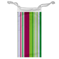 Beautiful Multi Colored Bright Stripes Pattern Wallpaper Background Jewelry Bag