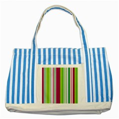 Beautiful Multi Colored Bright Stripes Pattern Wallpaper Background Striped Blue Tote Bag