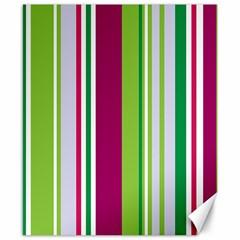 Beautiful Multi Colored Bright Stripes Pattern Wallpaper Background Canvas 8  X 10