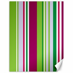 Beautiful Multi Colored Bright Stripes Pattern Wallpaper Background Canvas 12  X 16