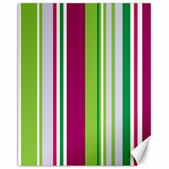 Beautiful Multi Colored Bright Stripes Pattern Wallpaper Background Canvas 16  X 20