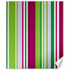 Beautiful Multi Colored Bright Stripes Pattern Wallpaper Background Canvas 20  x 24