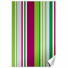 Beautiful Multi Colored Bright Stripes Pattern Wallpaper Background Canvas 24  X 36