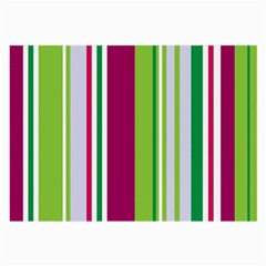 Beautiful Multi Colored Bright Stripes Pattern Wallpaper Background Large Glasses Cloth (2 Side)