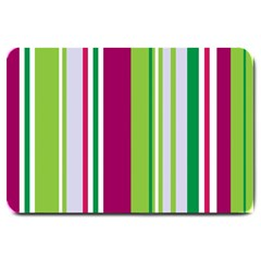 Beautiful Multi Colored Bright Stripes Pattern Wallpaper Background Large Doormat