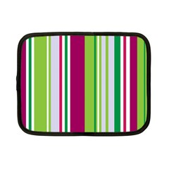 Beautiful Multi Colored Bright Stripes Pattern Wallpaper Background Netbook Case (small)