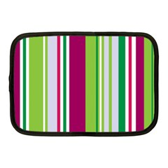 Beautiful Multi Colored Bright Stripes Pattern Wallpaper Background Netbook Case (Medium)