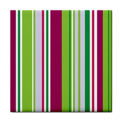 Beautiful Multi Colored Bright Stripes Pattern Wallpaper Background Face Towel