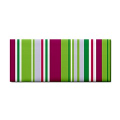 Beautiful Multi Colored Bright Stripes Pattern Wallpaper Background Cosmetic Storage Cases