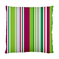 Beautiful Multi Colored Bright Stripes Pattern Wallpaper Background Standard Cushion Case (Two Sides)