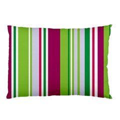 Beautiful Multi Colored Bright Stripes Pattern Wallpaper Background Pillow Case