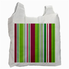 Beautiful Multi Colored Bright Stripes Pattern Wallpaper Background Recycle Bag (one Side)