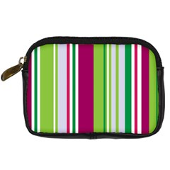 Beautiful Multi Colored Bright Stripes Pattern Wallpaper Background Digital Camera Cases