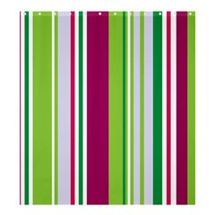 Beautiful Multi Colored Bright Stripes Pattern Wallpaper Background Shower Curtain 66  x 72  (Large)