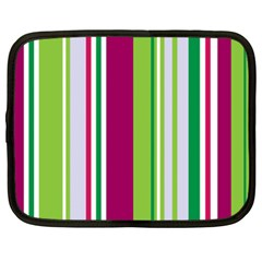 Beautiful Multi Colored Bright Stripes Pattern Wallpaper Background Netbook Case (xxl)