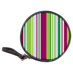 Beautiful Multi Colored Bright Stripes Pattern Wallpaper Background Classic 20 Cd Wallets