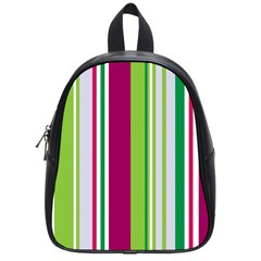 Beautiful Multi Colored Bright Stripes Pattern Wallpaper Background School Bags (small)