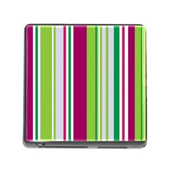 Beautiful Multi Colored Bright Stripes Pattern Wallpaper Background Memory Card Reader (Square)