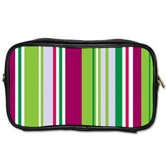 Beautiful Multi Colored Bright Stripes Pattern Wallpaper Background Toiletries Bags