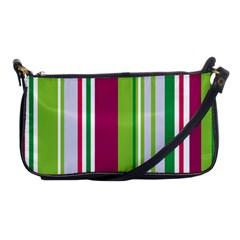 Beautiful Multi Colored Bright Stripes Pattern Wallpaper Background Shoulder Clutch Bags