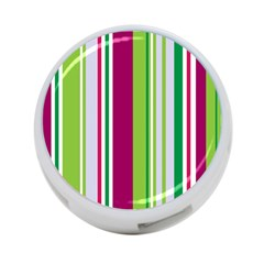 Beautiful Multi Colored Bright Stripes Pattern Wallpaper Background 4 Port Usb Hub (two Sides)