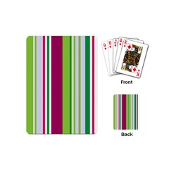 Beautiful Multi Colored Bright Stripes Pattern Wallpaper Background Playing Cards (mini)
