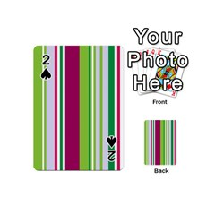 Beautiful Multi Colored Bright Stripes Pattern Wallpaper Background Playing Cards 54 (mini)